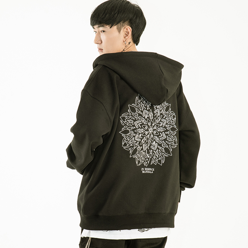 [SEASON OFF][A.Clown]Mandala Hoodie Zip-Up(블랙)(후드집업)(자수상품)